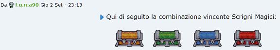 [SPECIAL GAME] Esito: Scrigni Magici! Combin11