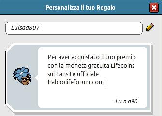 [HLF] Shop Lifecoins: scopri il nostro Negozio crediti! Luisaa10