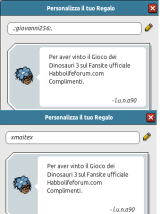 [HLF GAME] Preistoria: Esito Gioco dei Dinosauri #3 Pacchi10