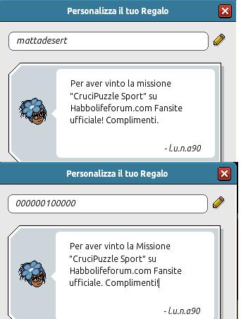 [HLF GAME] Missione Tempo Libero: Esito CruciPuzzle Sport! Pacchi11