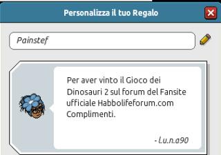 [HLF GAME] Preistoria: Esito Gioco dei Dinosauri #2 Painst10