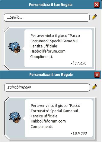 [SPECIAL GAME] Esito: Pacco Fortunato! Premi_10