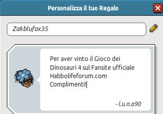 [HLF GAME] Preistoria: Esito Gioco dei Dinosauri #4 Zak_pa10