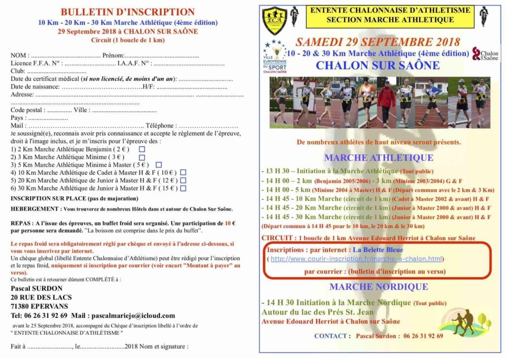 Compétition de Marche Athlétique de Chalon Sur Saône 29/09 Flyer_10