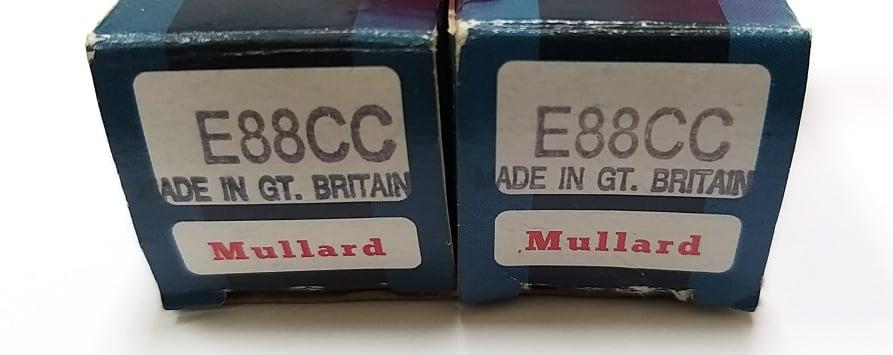 Mullard E88CC NOS Valves Mullar11