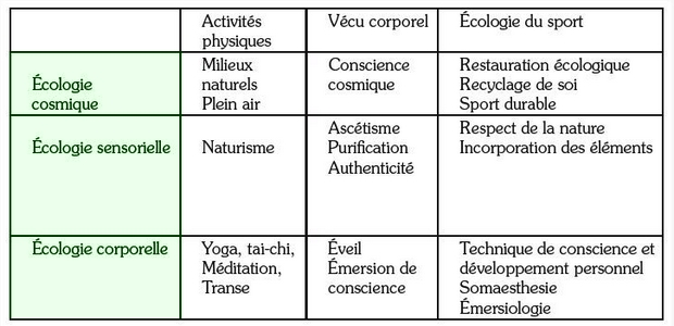 Les 3 types d'écologie par immersion corporelle. Zzxaca10