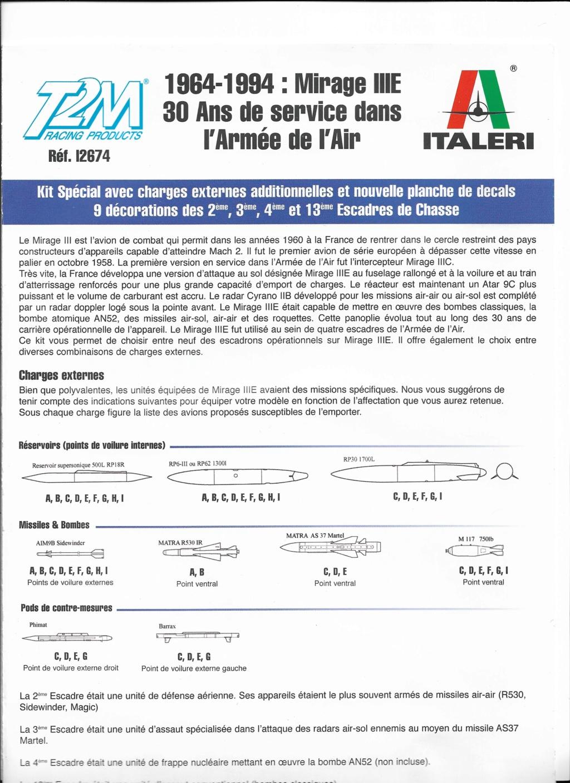 [ITALERI] DASSAULT MIRAGE III E 1/48ème Réf 12674 édition spéciale Notice Image_13