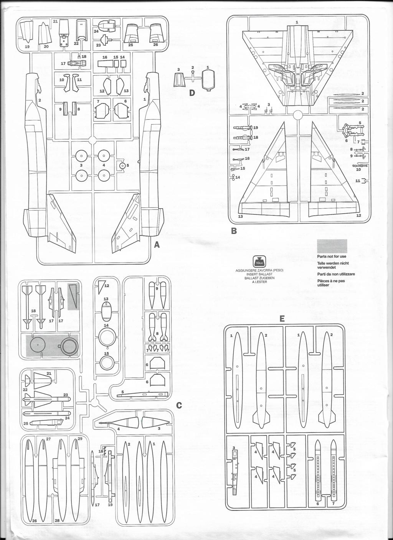 [ITALERI] DASSAULT MIRAGE III E 1/48ème Réf 12674 édition spéciale Notice Image_18