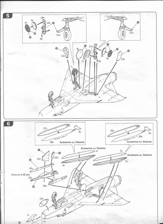 [ITALERI] DASSAULT MIRAGE III E 1/48ème Réf 12674 édition spéciale Notice Image_19