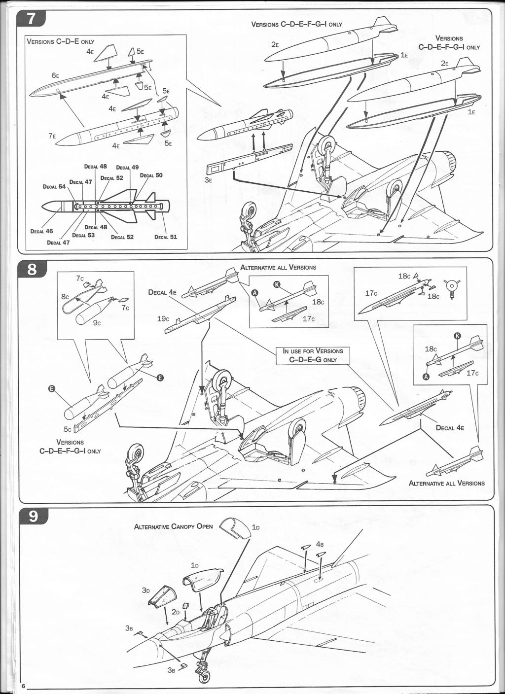 [ITALERI] DASSAULT MIRAGE III E 1/48ème Réf 12674 édition spéciale Notice Image_21