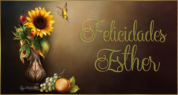 FELIZ CUMPLEAÑOS ESTHER / 18 / DE ENERO /2019 Esther10