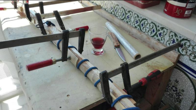 Arco de bambu y aligustre para el intercambio de arcos. Screen19