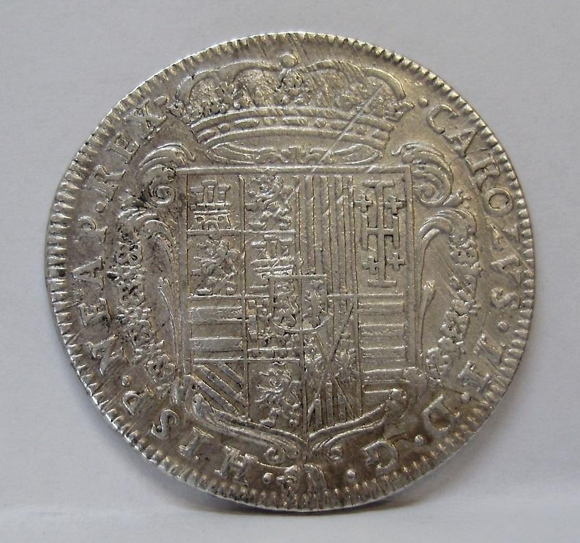 1 tari, Carlos II, Npoles, 1686  A13