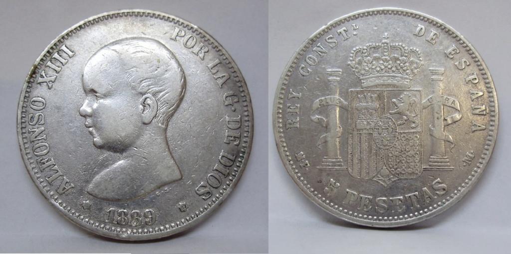 Duro sevillano 1889 Alfons12