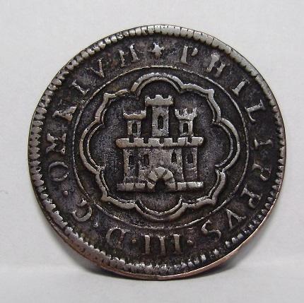4 maravedís de Felipe II fechados en 1597, repros. Felipa11