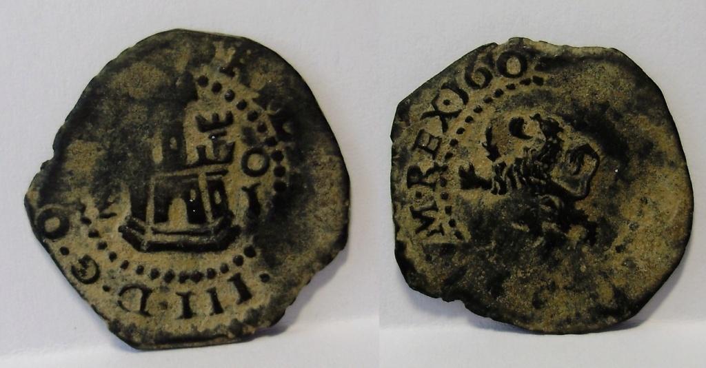 2 maravedís de Felipe III, resellados. Felipe31