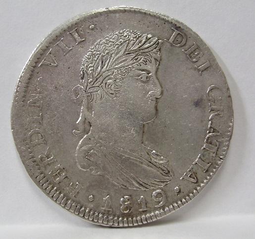 8 reales 1819. Fernando VII. Zacatecas Fernan12