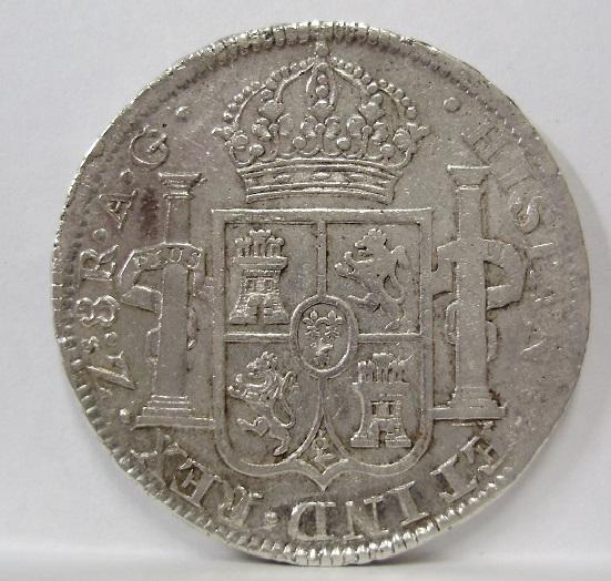 8 reales 1819. Fernando VII. Zacatecas Fernan13