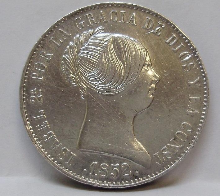 10 reales 1852. Isabel II. Madrid Isabel10