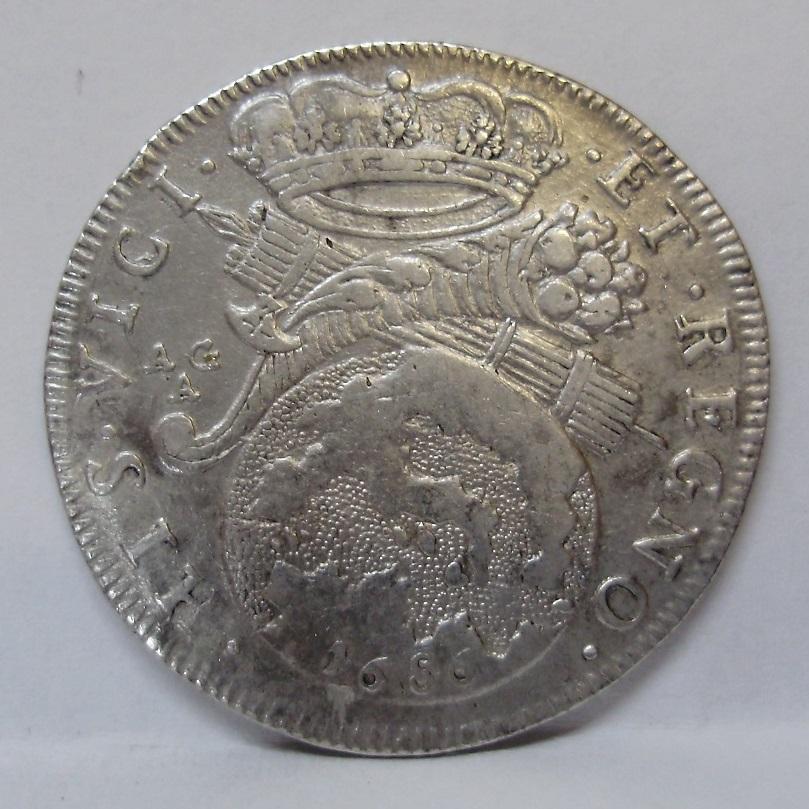 1 tari, Carlos II, Npoles, 1686  R13