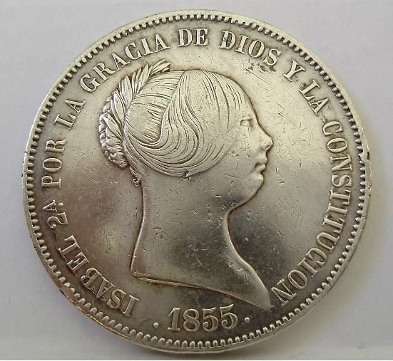 20 Reales  1850 Isabel II Sin_tz10
