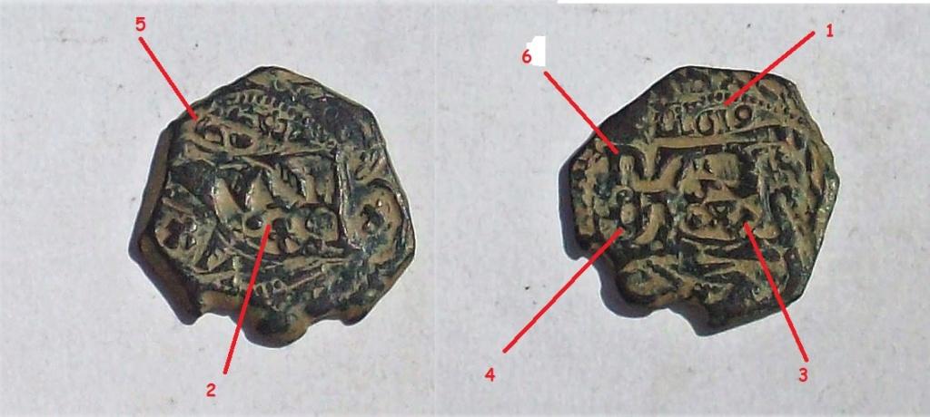 8 maravedís de 1619 resellados a VIII ceca Toledo de 1641, a 8 mrvs. de 1651/52 y anagrama a IIII mrvs. de 1658/9. Sin_tz15