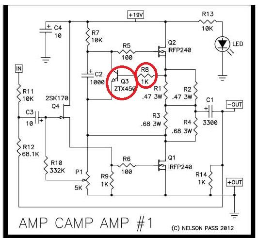 AMP CAMP 5W in classe A di Nelson Pass Schema10