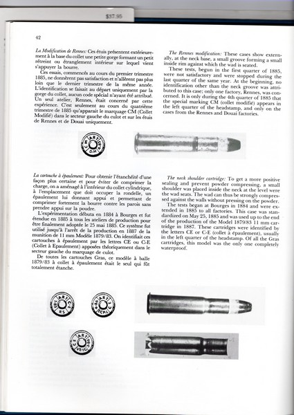 Cartouche à balle blindée de fusil Gras. Img20217