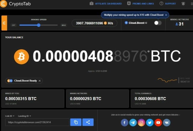 CryptoTab Browser  - przeglądaj strony i zarabiaj :)  Ct_110