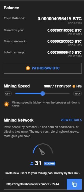CryptoTab Browser  - przeglądaj strony i zarabiaj :)  Ct_610