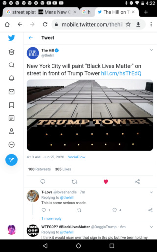 """New York City will paint """"Black Lives Matter"""" on street in front of Trump Tower Scree101"""