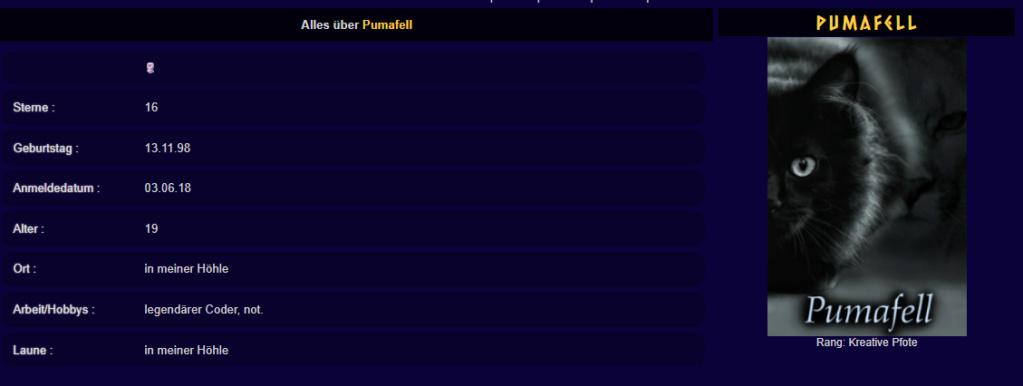 HTML-Versuche made by Pumafell Unbena11