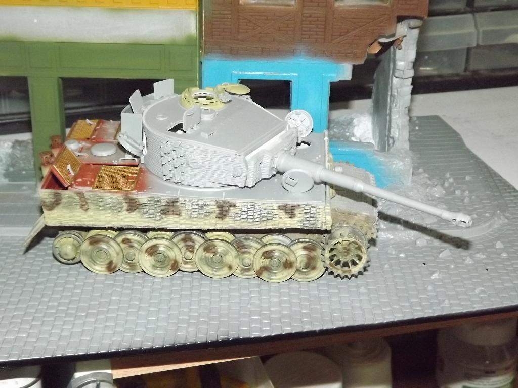 Juin 1944 Rauray 1944 la fin du monstre.....Tigre Dragon, Zimmerit Atak, ruine MiniArt - 1/35 07_12_19