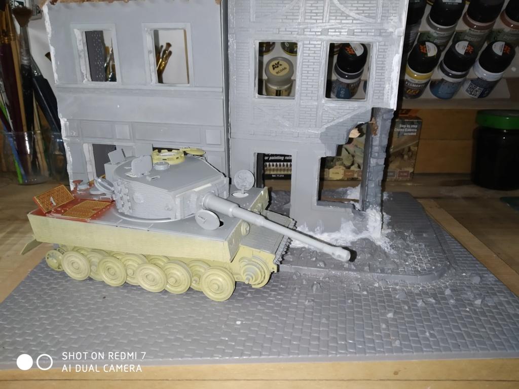 Juin 1944 Rauray 1944 la fin du monstre.....Tigre Dragon, Zimmerit Atak, ruine MiniArt - 1/35 5_12_111