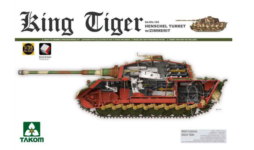 Tigre II full interior - Takom - 1/35 Captur11