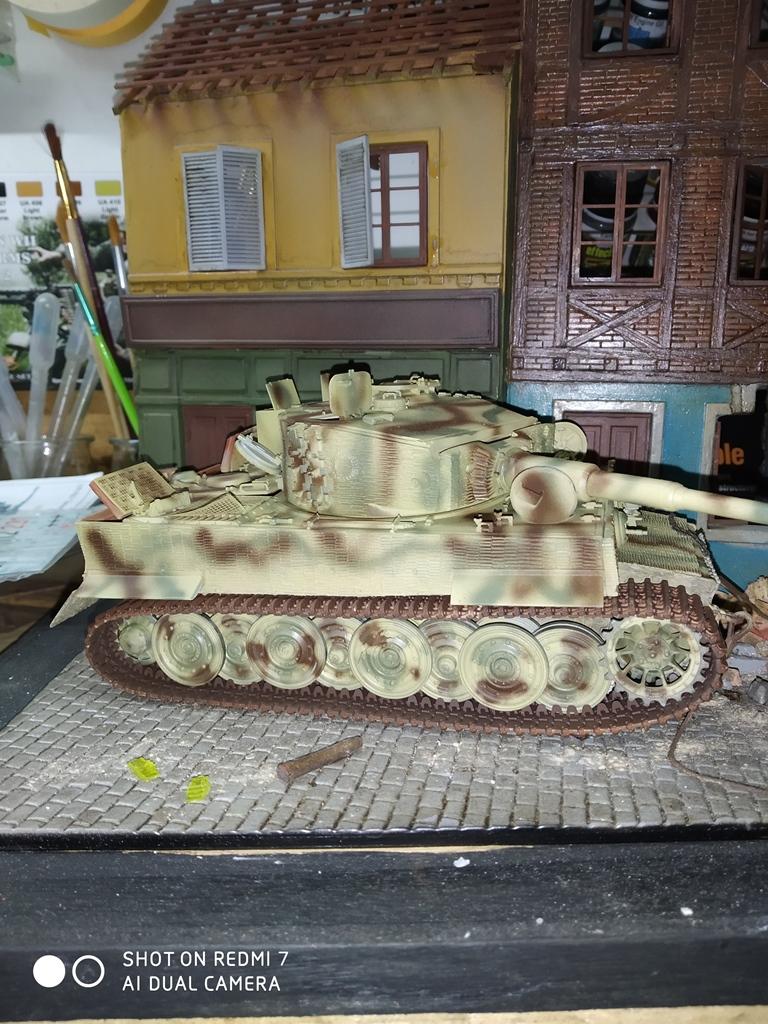 TERMINE....Juin 1944 Rauray 1944 la fin du monstre.....Tigre Dragon, Zimmerit Atak, ruine MiniArt - 1/35 Img_2446