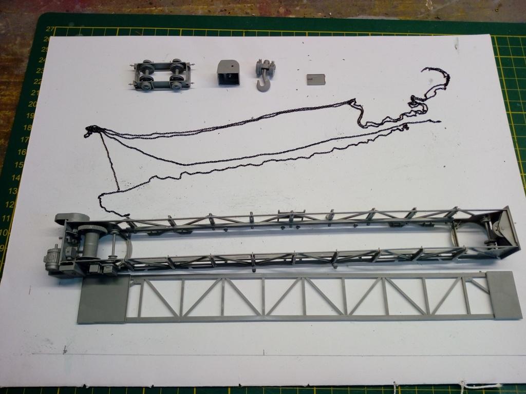 opération réparation panther A  portique et panther Takom 1/35 Montag10