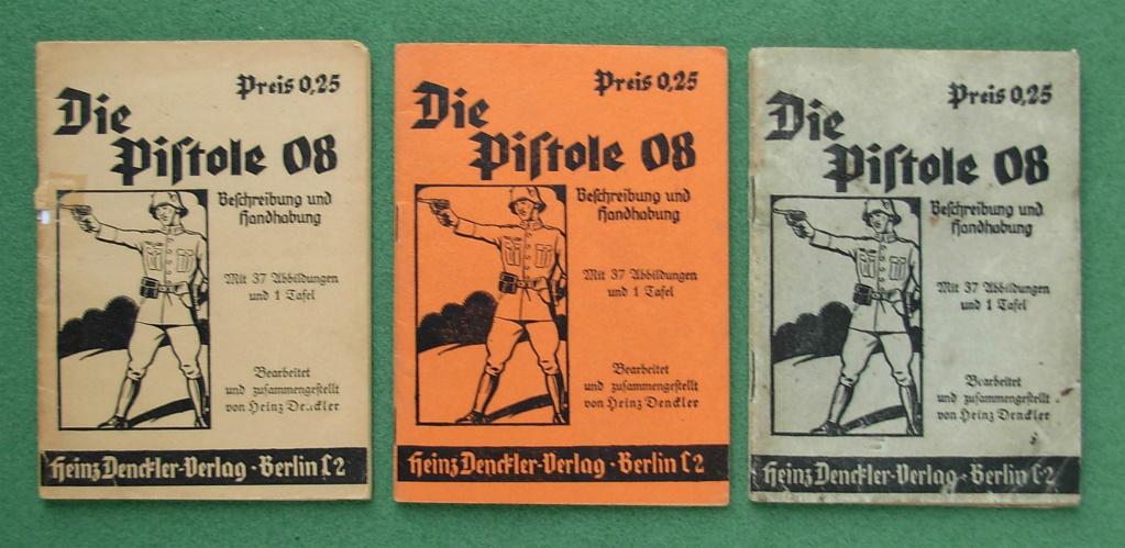 Livrets et manuels du Luger P08 et Parabellum Dscn5119