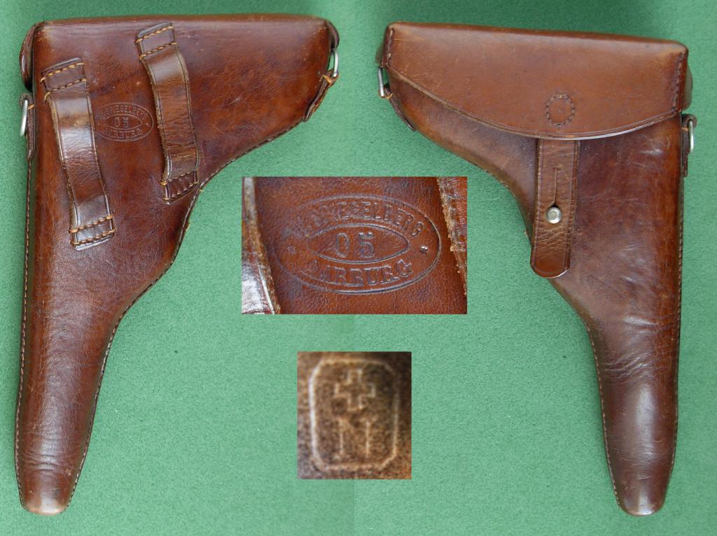 Les étuis militaires suisses pour les Luger 1900 de la DWM Etui_s18