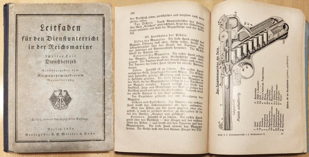 Livrets et manuels du Luger P08 et Parabellum Leitfa10