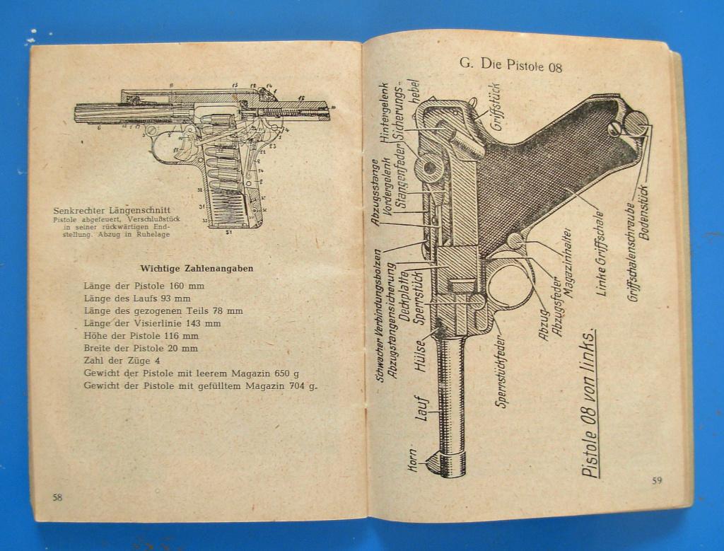 Manuels d'origine P.08 VOPO Livret13
