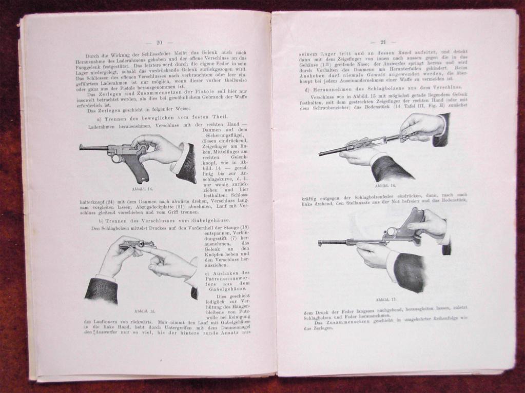 Livrets et manuels du Luger P08 et Parabellum Livret25