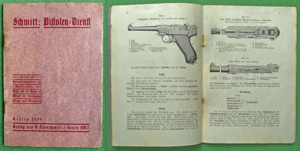 Livrets et manuels du Luger P08 et Parabellum Manuel18