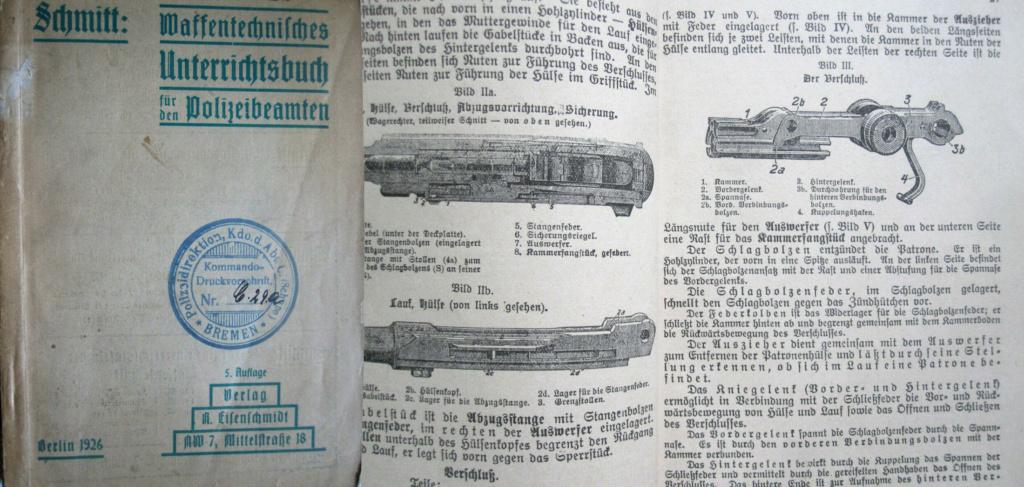 Livrets et manuels du Luger P08 et Parabellum Manuel19