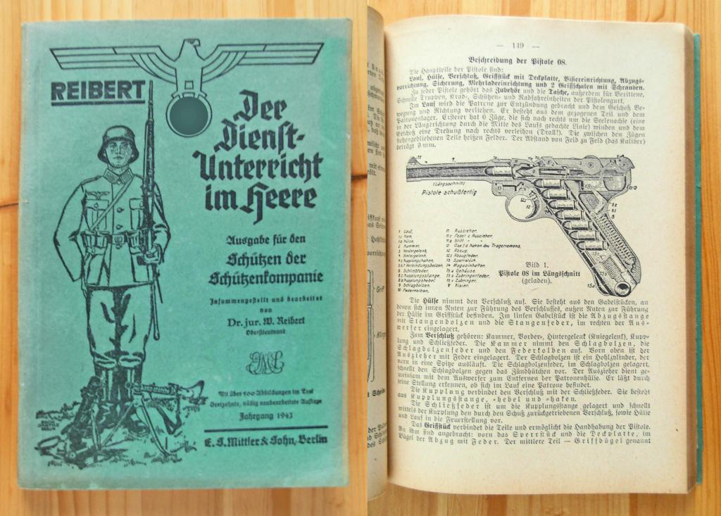 Livrets et manuels du Luger P08 et Parabellum Reiber10