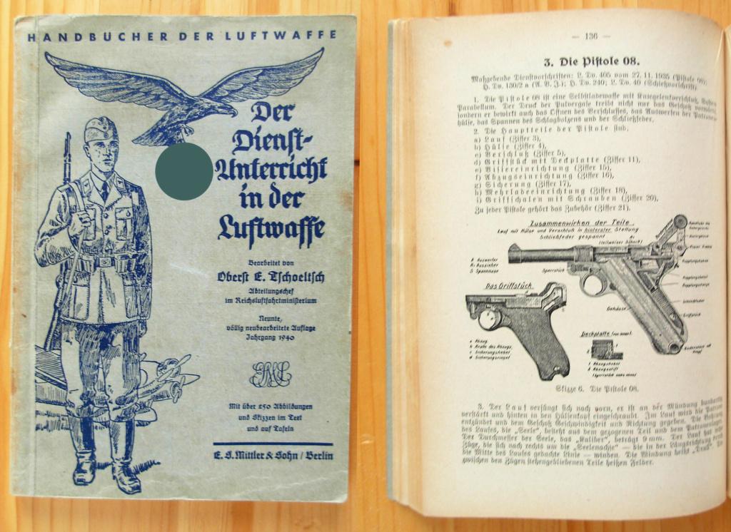 Livrets et manuels du Luger P08 et Parabellum Reiber11