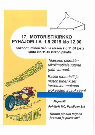17. Motoristikirkko Pyhäjoella Vappuna 1.5.2019 Fb_img11