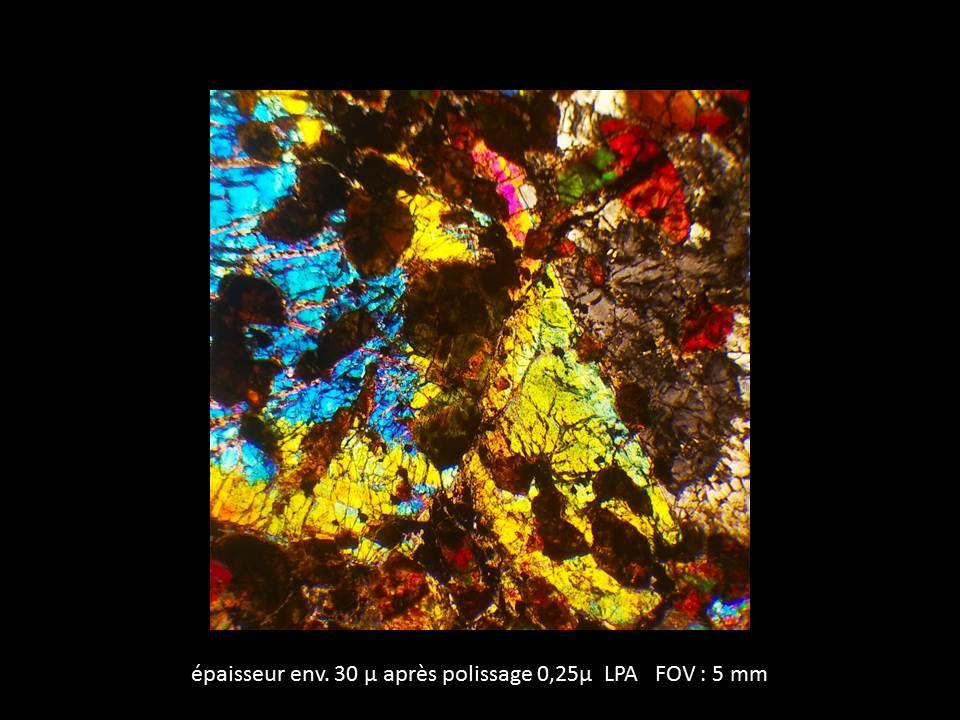 Une shergottite lherzolitique en lame mince 25_110