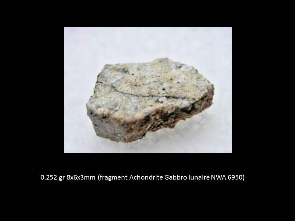 Un gabbro lunaire riche en olivine : ma dernière TS NWA6950 Tranch10