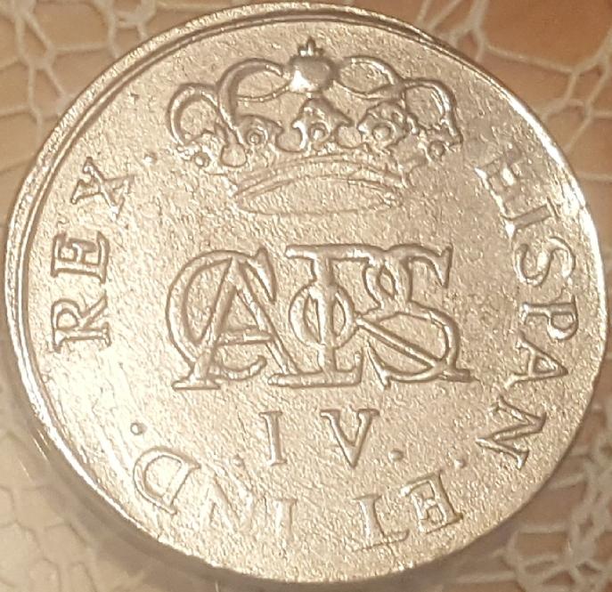 Repro de medalla de proclamación de Carlos IV. 110
